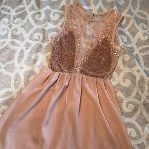 Blush colored Forever 21 dress